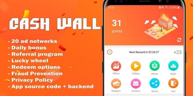 Cash Wall v2.1 – Android Rewards App Source Code